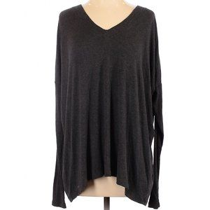 CAbi Oversized Long Sleeve V Neck Shirt
